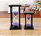 WEII ZeitglasHourglass Home Craft Geschenk Ornamente Glas Kristall Sanduhr Kreative Geschenke,Schwarze Spalte,45 Minuten