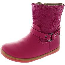 Bobux I-walk Strap Boot, Chaussures souples pour bébé (fille) rose rose 223946c73355