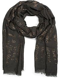 99824bf717e5 styleBREAKER Châle pour femme avec motif léopard et trois parties colorées,  écharpe dhiver, étole