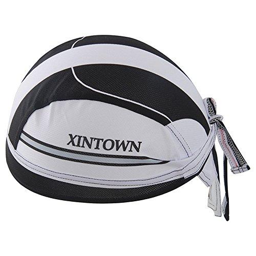 HYSENM Bandana Unisex Schnell-trocken Anti-UV für Radsport Motorrad Kopftuch Cap, Weiß