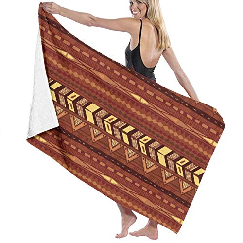 fgjfjhfjtyuj Brown and Black Southwest Tribal Aztec Bath/Pool/Badetuch - Super Soft Cotton Towel - 32