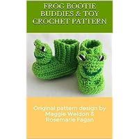 Frog Bootie Buddies crochet pattern (Maggie