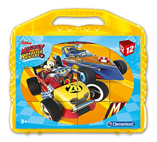 Clementoni 41183Mickey and The Roadster Racers-Baby Puzzle Cubo, 12Piezas