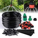 TedGem Kit Irrigation Goutte à Goutte, d'arrosage automatique système DIY Avec arrosage Micro Arroseur et 20m Tuyaux, pour jardin serre potager pelouse