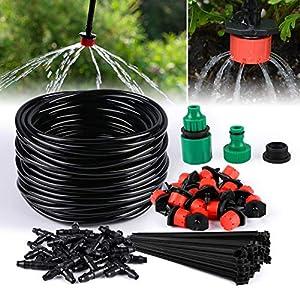 TedGem Kit de riego por goteo, sistema de riego automático DIY con riego Microaspersión y mangueras de 20 m, para jardín…