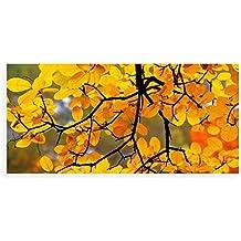 banjado - Scheibe zum Wechseln 56x26cm für Ikea Gyllen Leuchte Wandlampe Herbstgold, Motivscheibe Scheibe + Leuchte + 6W LED 2Stck.
