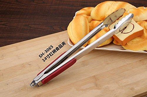 Xing Lin Grill Barbecue Pinces Clip Alimentaire Pain Barbecue Clips Des Ciseaux En Acier Inoxydable Haute Qualité,14\