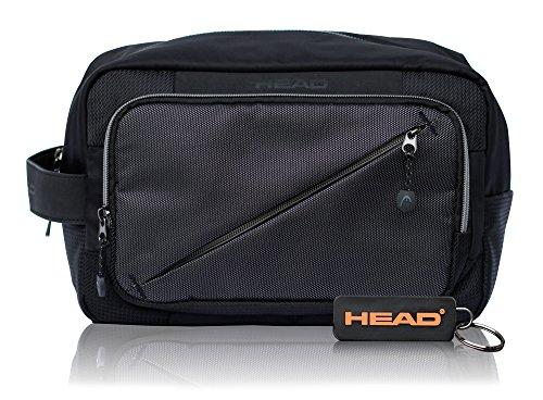 HEAD Lead Ampia Trousse per Uomini e Donne, Piccolo Beauty Case Beauty Case per le Vacanze, il Campeggio e Gli Affari, Colore Nero