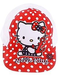 Casquette bébé fille Hello kitty Pois Blanc et Marine de 9 à 36mois