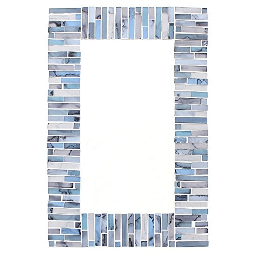 Something Different Mosaic Mirror, Blue