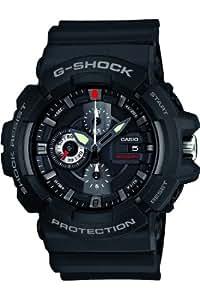 G-Shock Men's Quartz Watch with Black Dial Analogue Display and Black Resin Strap GAC-100-1AER
