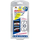 Kit de réparation de jantes ATG ALU-FIX – Mastic spécial pour jantes en aluminium et en acier en cas de dommages de surface – stylo de retouche argent alu-métallisé inclus – DIY Smart Repair – 11 pièces