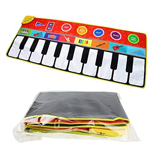 Huhua ㋡Tapis de Jeu de Tapis de Jeu d'instruments de Musique pour Enfants de Musique de Couverture Multi-Fonction
