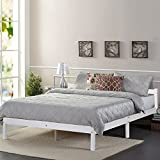 4'6 FT Pine Wooden Bed Frame Double Bed 146cm*198cm for children or adult White color