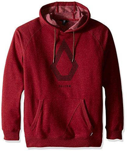 Volcom Stone Pack P/O-Felpa con cappuccio, da uomo, colore: Rosso
