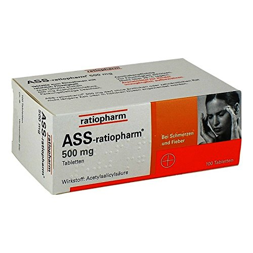 ASS-ratiopharm 500 mg Tabletten, 100 St. Tabletten