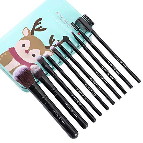 10 Stück Make-up Pinsel Set - Foundation Puder Lidschattenpinsel Blush Eyeliner Puderpinsel...