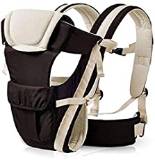 Ineffable Baby Carrier Comfortable Support with Belt Baby Carrier(Brown, Front Carry Facing Out)