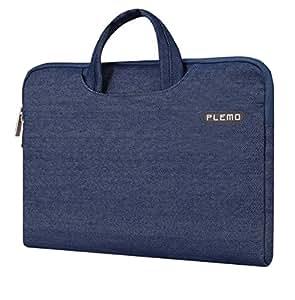 Plemo 15-15.6 Inch Laptop Sleeve Case Waterproof Fabric Bag for MacBook Air / 15.6-Inch Laptops / Notebook, Blue