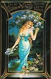 Blechschild Nostalgieschild 4711 Eau de Cologne Frau mit Blumen kölnisch Wasser Schild Parfum Werbeschild