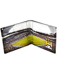 Manchester City FC - Billetera/ Monedero/ Cartera de piel auténtica oficial con el estadio de Etihad Stadium impreso en su interior para hombre/caballero
