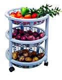Princeware Maria 3 Rack Big Trolley, Blu...