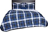Beco Home Bedding Collection Bettdecken-Set, 8-teilig King blau