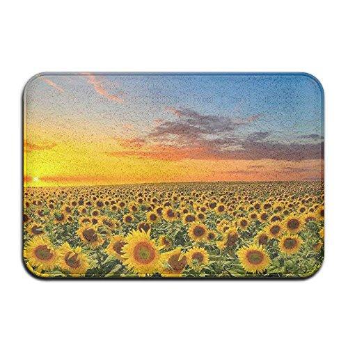 ELQSMTIR Custom Evergreen fashionsunset Sonnenblume Natur Script Fußmatte, für Innen-/im Badezimmer Decor Matte 59,9x 39,9cm - Sonnenblume Bubble