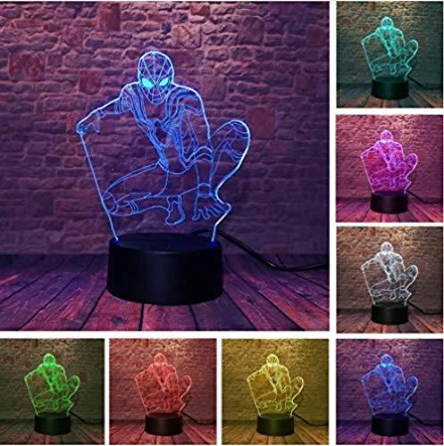 FSKJXYD 3D Football Helm Led Indianer Nachtlichter Touch 7 Farben Schreibtischlampe Ändern Usb Tischlampen Für Kindergeschenke Spielzeug Halloween-helme