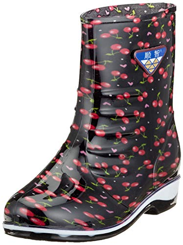 Gaatpot Rain Boots Rubber Shorty Warm Lined Wellington Boots for Womens