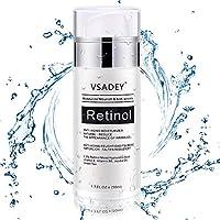 VSADEY 2.5% Retinol Crema para Rostro y Ojos, Antienvejecimiento Hidratante Facial • Natural • Reduzca la Crema Antiarrugas con Retinol Activo al 2.5%, Ácido Hialurónico y Aceite de Jojoba 50 ml