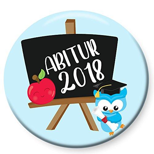 Polarkind Button Pin Anstecker Geschenk zum Abitur 2018 Abi 38mm Handmade (Abi Tafel)