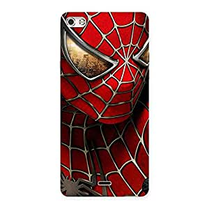 Stylish Spide Two Red Back Case Cover for Micromax Canvas Silver 5