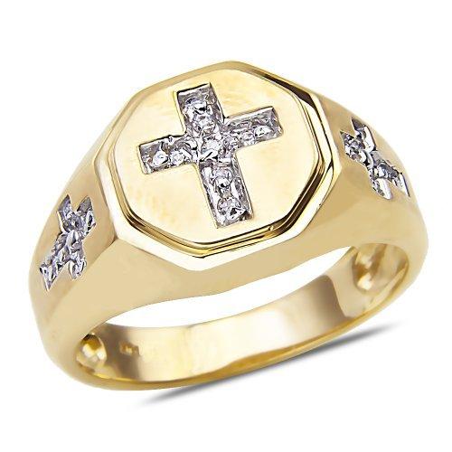 mens-1-7ct-diamond-cross-ring-in-10k-yellow-gold-by-nissoni-jewelry
