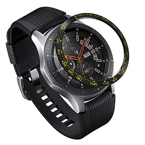 Ringke Bezel Styling Kompatibel mit Galaxy Watch 46mm Hülle/Galaxy Gear S3 Frontier & Classic Lünette Ring Schutz Kratzfest Tachymeter Ring [Edelstahl] für Galaxy Watch 46mm Zubehör GW-46-04