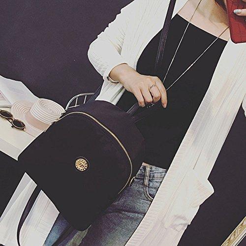 Longra Le donne di moda nylon impermeabile Borsa da viaggio Nero