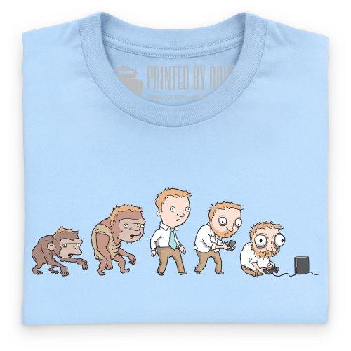 Devolution T-Shirt, Herren Himmelblau