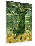 Franz Marc - Frauen im Wind am Meer - 40x60 cm - Textil-Leinwandbild auf Keilrahmen - Wand-Bild - Kunst, Gemälde, Foto, Bild auf Leinwand - Alte Meister/Museum