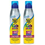 Banana Boat Lotion UltraMist Kids SPF 50 Sunscreen, 6 Ounces, 2 Pack