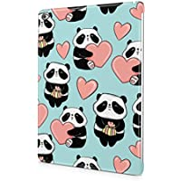 Cute Fluffy Kawaii Pandas With Hearts Pattern Durable Hard Plastic