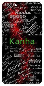 Kanha (Lord Krishna) Name & Sign Printed All over customize & Personalized!! Protective back cover for your Smart Phone : Moto G3 ( 3rd Gen )