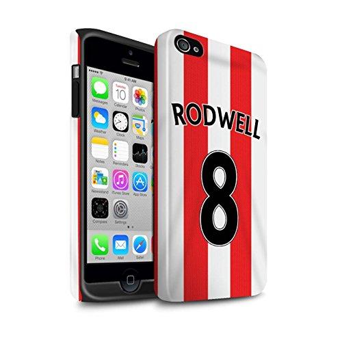 Offiziell Sunderland AFC Hülle / Glanz Harten Stoßfest Case für Apple iPhone 4/4S / Pack 24pcs Muster / SAFC Trikot Home 15/16 Kollektion Rodwell