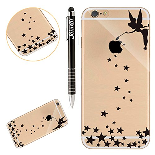 Coque iPhone 7, iPhone 7 Coque en Silicone, SainCat Ultra Slim Transparent Silicone Case Cover pour iPhone 7, Crystal Clair Soft TPU Silicone Anti-Scratch Soft Transparent Gel Cover Coque Caoutchouc S Fille Ange