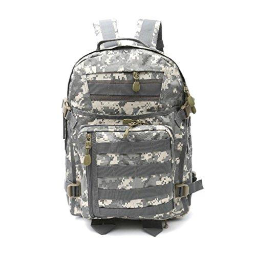 40L Walking Rucksack mit Molle Tasche / Military Bag / Military Rucksack / Rucksack Soldat / Camping Tactical Rucksack (Camouflage / Schwarz / ACU / Khaki) C