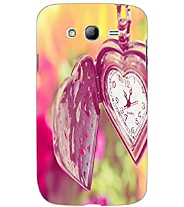 SAMSUNG GALAXY GRAND HEART CLOCK Back Cover by PRINTSWAG