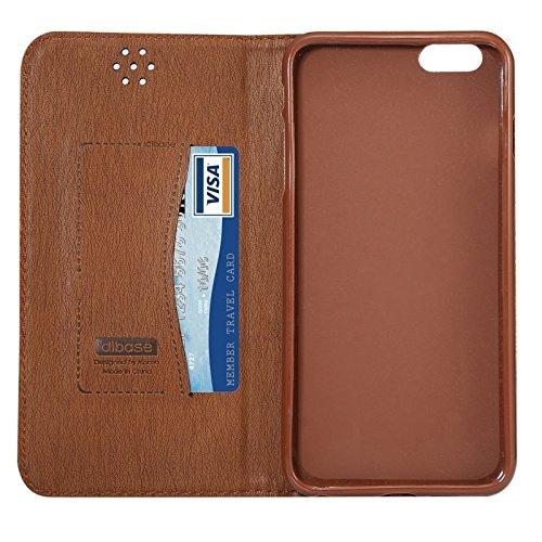 wkae Schutzhülle Fall & Oxford Oberfläche Magnetic Horizontal Flip Leder Case mit Halter & Cardslot für iPhone 6Plus & 6splus grau