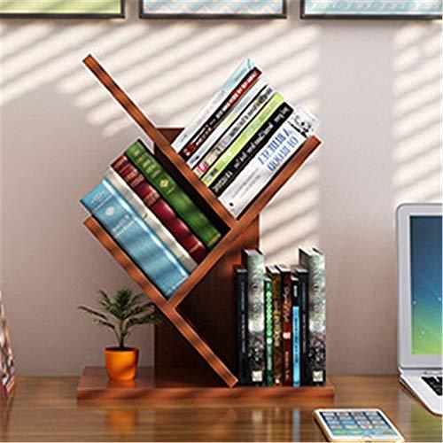 Yzibei Bücherregal Bücherregal Boden Student Rack Einfache Moderne kreative Wirtschaft Wohnzimmer Baum kleines Bücherregal Stehendes Bücherregal (Farbe : Teak, Größe : Mini Model) -