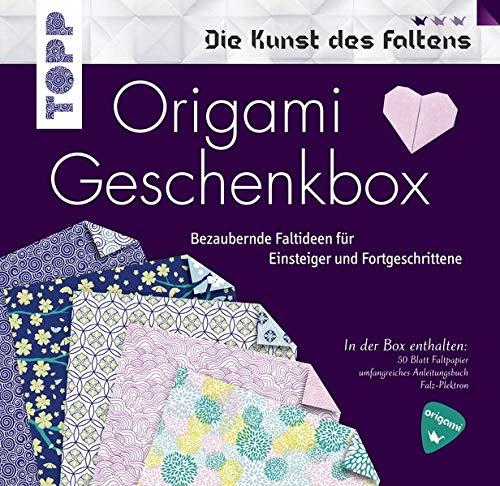 Origami Geschenkbox: Buch mit Faltanleitungen, 50 Faltblättern und einem Falz-Plektron (Buch plus Material) (Die Kunst des Faltens)