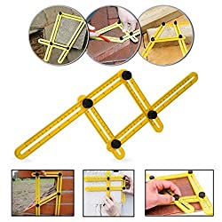 Angle-izer Template Tool, Multi-angle Ruler Template Measures All Angles & Forms For Handymen, Builders, Craftsmen, Home Diyers