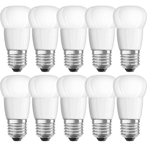 NEOLUX - Lot de 10 Ampoules LED - Forme Sphérique Dépolie - Culot E27-3,3W Equivalent 25W - Blanc Chaud 2700K